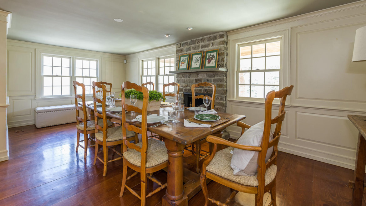 dining room additions   Dining Room Addition with wide plank floors & sto… Bedford ...