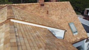 Cedar Shake Roof with copper flashing in Ridgefield, CT