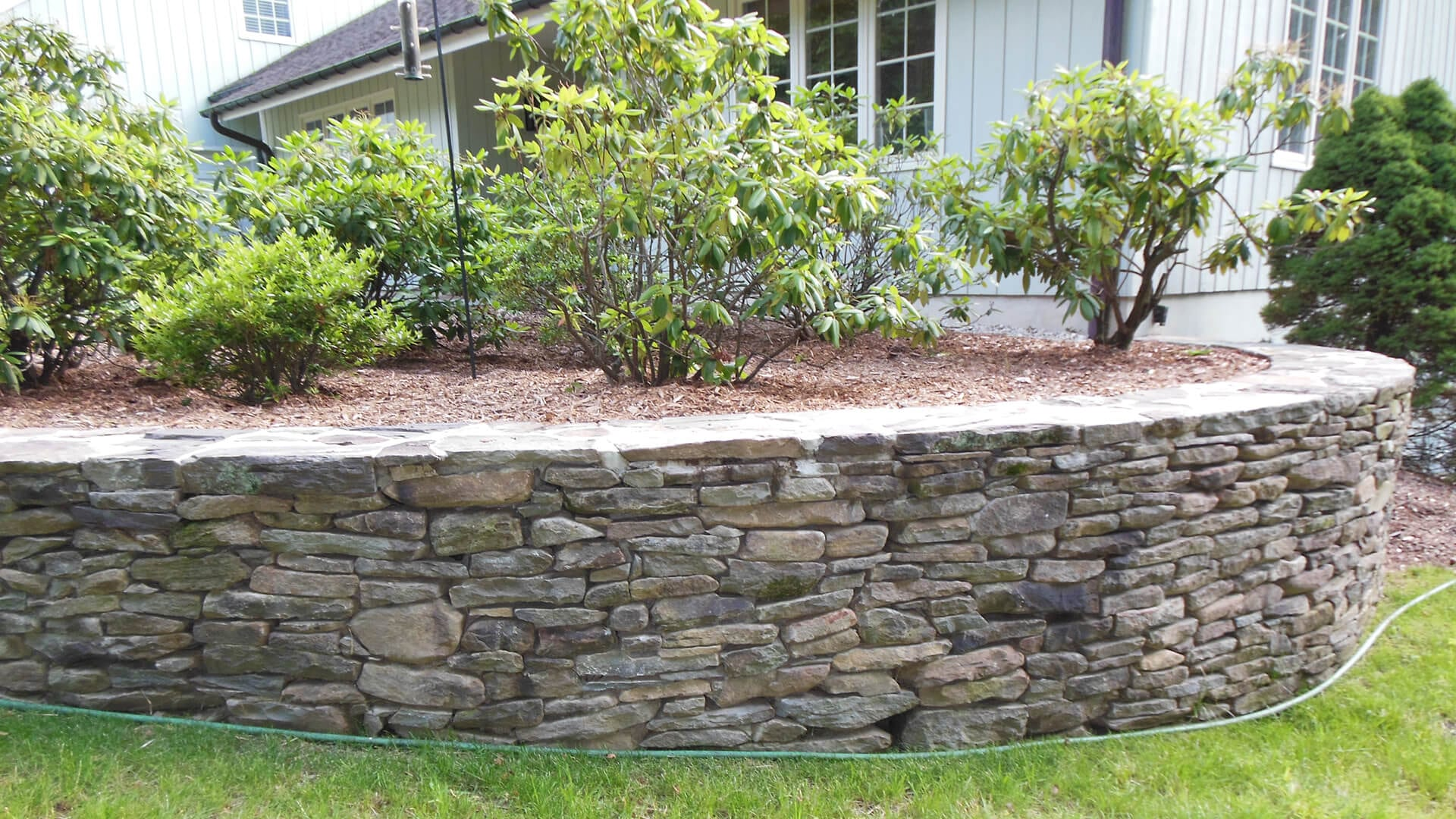 Stone Garden Wall In Bedford Ny Gerety Building Restoration