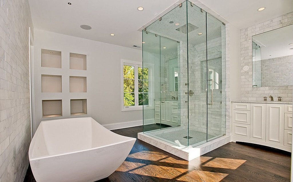 Transitional-Bathroom-with-Steam-Shower-standalone-tub-in-Darien-CT-modern-luxury-remodel