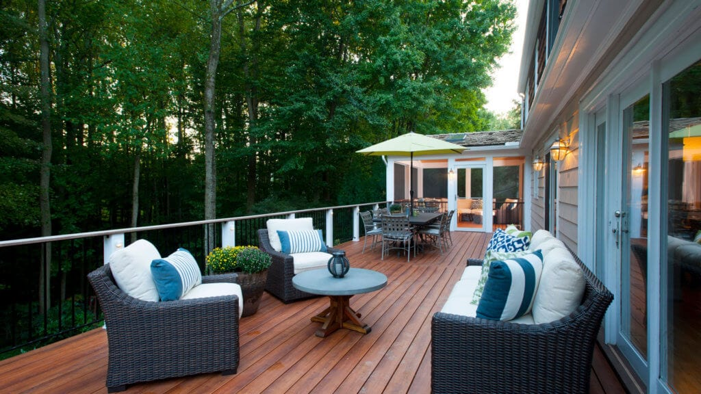 Mahogany Deck Replacement in New Canaan, CT