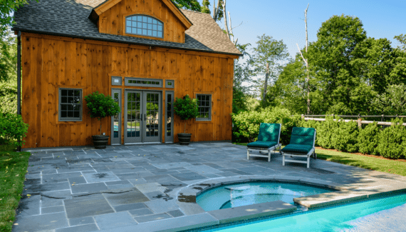 One-of-a-Kind Timber Frame Pool House