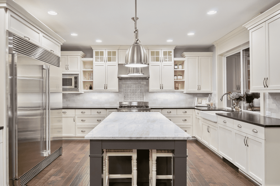 white-sleek-traditional-design-shaker-cabinets-luxury-kitchen-remodel-kitchen-island